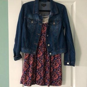 Jean jacket and summer dress